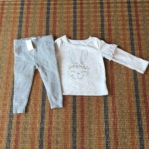 GAP sweater bunny and sweater legging